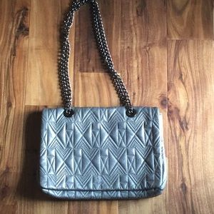 Badgley Mischa quilted leather chain flap purse